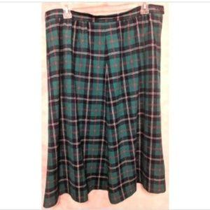 Pendleton A Line Pockets Below Knee Virgin Wool